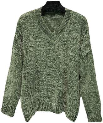 Goodnight Macaroon 'Jenna' V-Neck Chenille Ribbed Oversized Sweater (2 Colors)