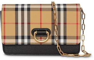 Burberry The Mini Vintage Check and Leather D-ring Bag