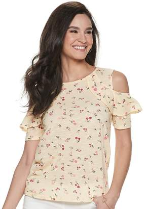 Juicy Couture Women's Ruffle-Shoulder Top