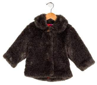 Catimini Girls' Faux Fur Collar Jacket