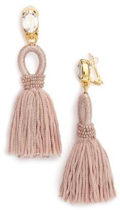 Women's Oscar De La Renta Silk Tassel Drop Earrings $395 thestylecure.com