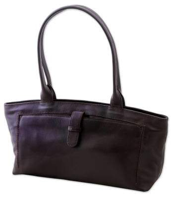 Espresso Style Espresso Brown Baguette Bag Crafted of Quality Leather
