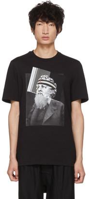 Neil Barrett Black Poseidon Beard Headband T-Shirt