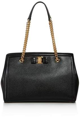 4c33fde064 Salvatore Ferragamo Black Calfskin Leather Handbags - ShopStyle