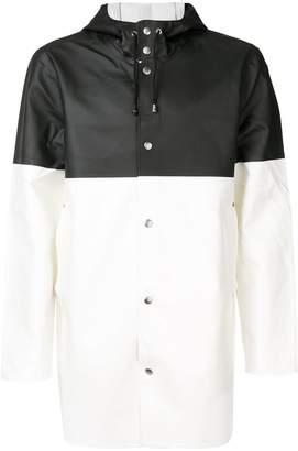 Stutterheim contrast hooded raincoat