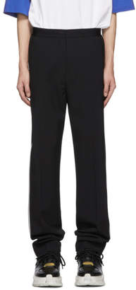 Helmut Lang Black Silver Band Pull On Trousers