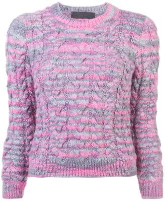The Elder Statesman cropped sleeve cable knit sweater