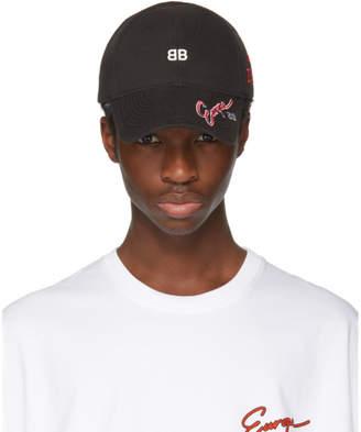 Balenciaga Black Multi Logo Cap