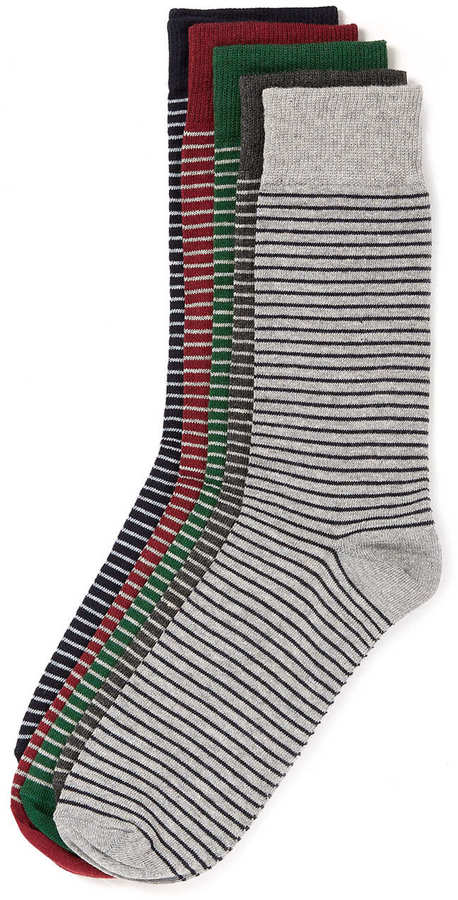 Topman Thin Stripe 5 Pack Socks