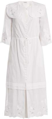 Vilshenko Auberta floral-embroidered cotton dress