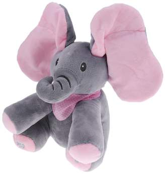 non-brand MagiDeal Cute Elephant Singing Baby Plush Toy Stuffed Pink Animated Kids Soft Toy - , Grey