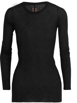 Rick Owens - Cotton-jersey Top - Black $325 thestylecure.com