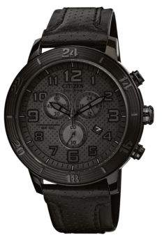 Citizen Drive Collection, Eco-Drive Black Stainless Steel Watch