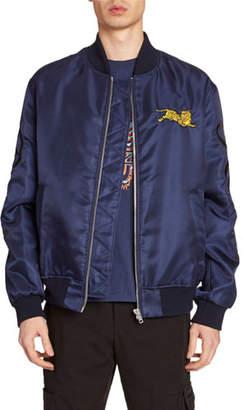 85345662ff1b1 Kenzo Men's Jumping Tiger Nylon Bomber Jacket