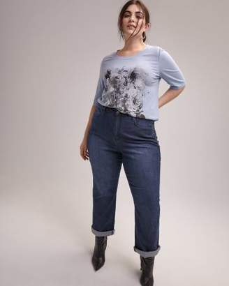 Printed T-shirt with Elbow Sleeves - d/C JEANS