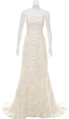 Amsale Strapless A-Line Wedding Gown