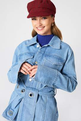 NA-KD Na Kd Belted Denim Jacket