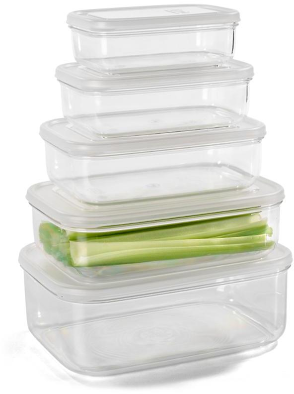 Container Store 22 oz. Crystal Clear Rectangle 620 ml.