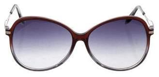 Victoria Beckham Bicolor Oversize Sunglasses