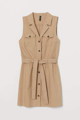 H&M Sleeveless Shirt Dress - Beige