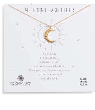 Dogeared We Found Each Other Crescent Pendant Necklace