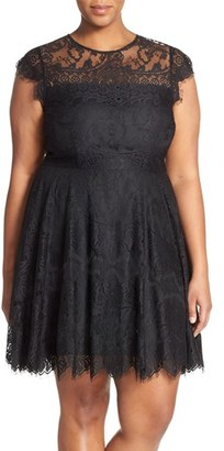 BB Dakota 'Rhianna' Lace Fit & Flare Dress (Plus Size) $108 thestylecure.com