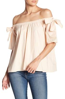 Blvd Bow Sleeve Off-The-Shoulder Blouse