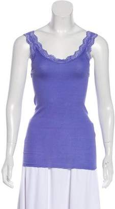 Calypso Lace-Trimmed Sleeveless Top