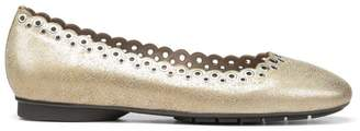 Donald J Pliner DANA, Embellished Metallic Leather Flat