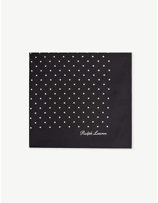 Ralph Lauren Purple Label Polka-dot silk pocket square