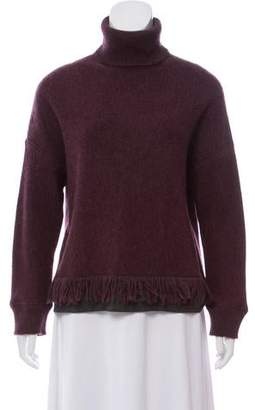Fendi Cashmere and Wool-Blend Turtleneck Sweater