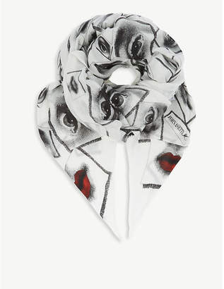 Fornasetti Themes and Variations cashmere and silk scarf