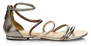 Alexandre Birman Women's Gianny Flat Metallic Sandals