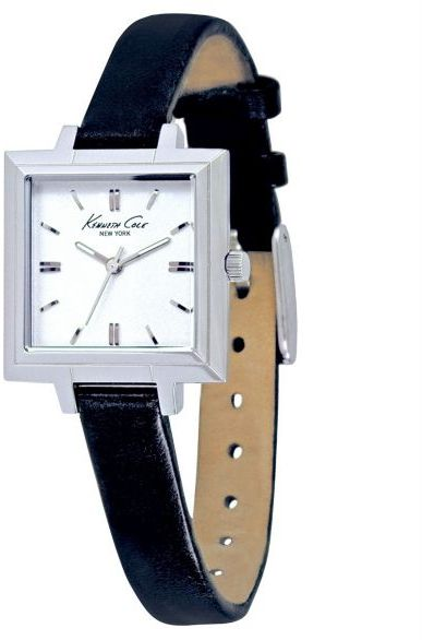 Kenneth Cole New York Women's Black Leather Strap Watch
