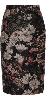 Libertine Dark Garden Slit Pencil Skirt Size: XS