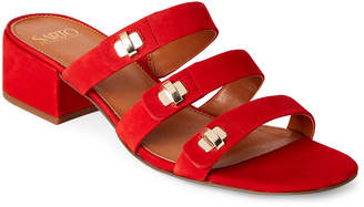 Franco Sarto \Poppy Red Arabesque Block Heel Slide Sandals