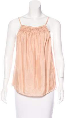 Elizabeth and James Sleeveless Ruched Top