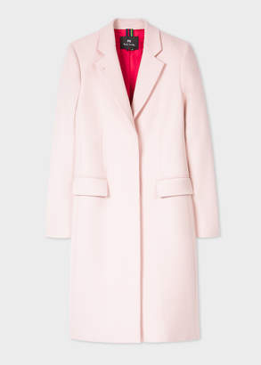 Paul Smith Women's Light Pink Wool And Cashmere-Blend Epsom Coat