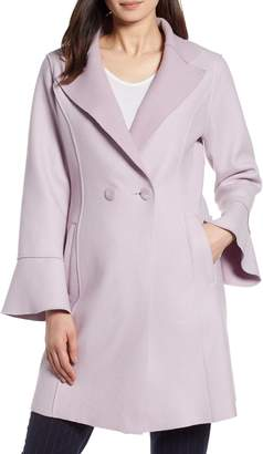Halogen Raw Edge Bell Sleeve Coat