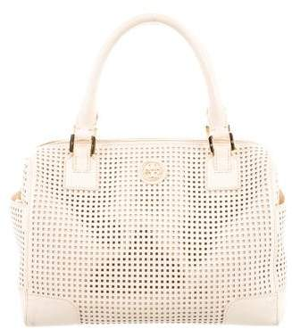 Tory Burch Laser-Cut Leather Handle Bag