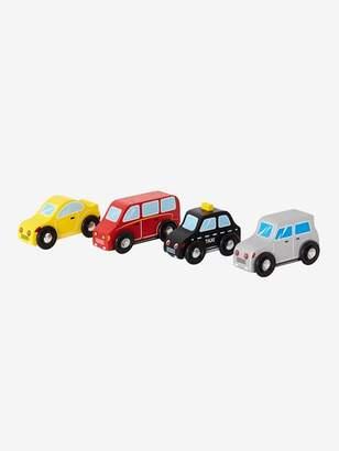 Set of 4 Wooden Cars - grey medium solid