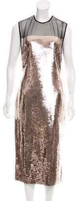 Tom Ford 2018 Liquid Sequin Midi Dress w/ Tags