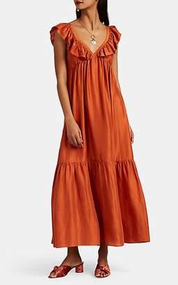Masscob Women's Acacia Silk Dress - Orange