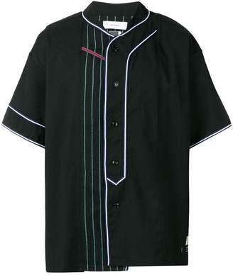 Facetasm stitch detail buttoned shirt