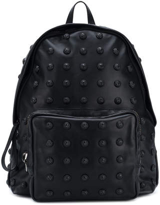 Balmain embossed button backpack
