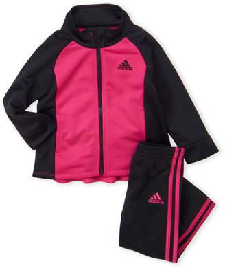 41e52977127 adidas Infant Girls) Two-Piece Track Jacket & Tricot Pants Set