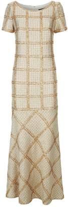 St. John Shimmer Plaid Gown
