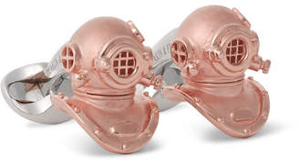 Deakin & Francis Diving Helmet Rose Gold-Plated Sterling Silver Cufflinks - Rose gold