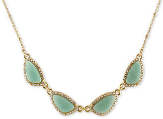 Rachel Roy Gold-Tone Blue Stone Necklace