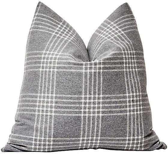 Buy Gray Plaid Flannel Pillow!